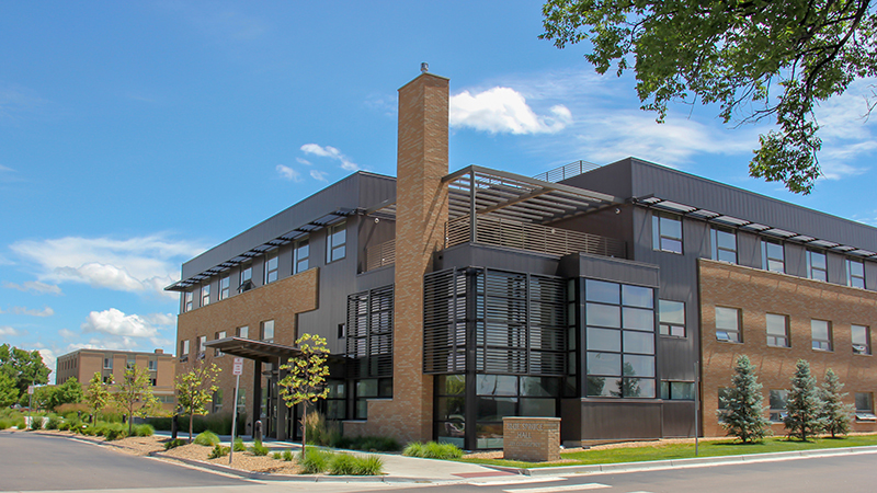 Blue Spruce Hall is located on the campus of Northeastern Junior College. It is one of six residence halls offered at the largest residenitial community college campus in Colorado.