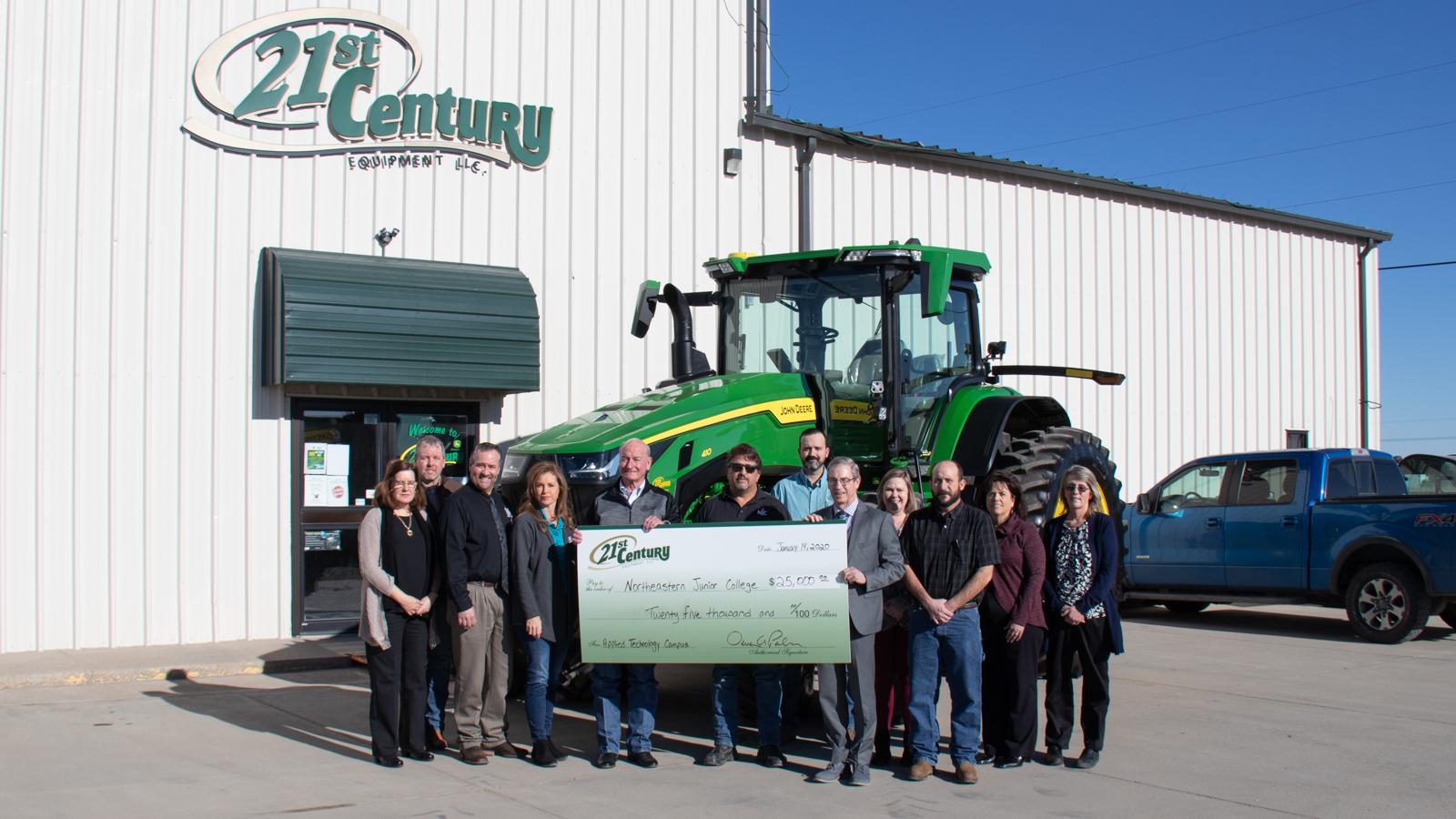 21st Century Equipment $25,000 donation to Northeastern