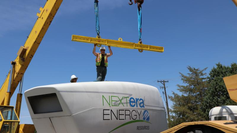 Nacelle donation to the Wind Technology Program, Applied Technology Campus of Northeastern Junior College