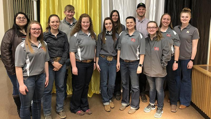 Greg Peterson with Northeastern Collegiate Farm Bureau members
