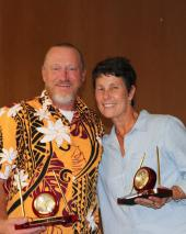Twenty-five-year award recipients, left to right, Michael Vair and Maret Felzien