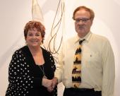 Deb Walker, NJC Alumni Association board member, and Dr. Harold Chapel