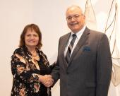 Laural Brownell, NJC Alumni Association board member, and Bob Carpio