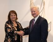 Laural Brownell, NJC Alumni Association board member, and Dr. Lynn Kennedy
