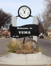 Yuma Welcome Clock