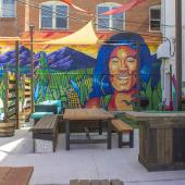 Community space in downtown Sterling, Colorado