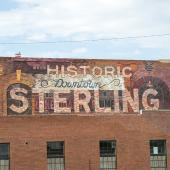 Historical downtown Sterling sign