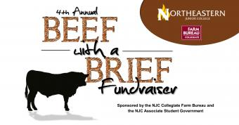 4th Annual Beef with a Brief Fundraiser. Sponsored by the NJC Collegiate Farm Bureau and the Associate Student Government.