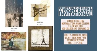 Images of prints from the gallery show.