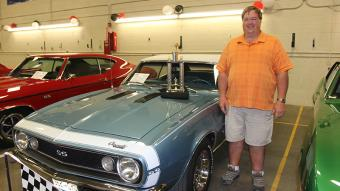 The President's Choice 2015 Award, selected by Northeastern President Dr. Jay Lee, went to the light blue Camaro SS Convertible shown by Dennis Vierow, Sterling.