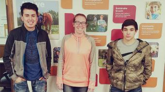 Pictured from left to right, Luis Rojas – Secondary Auto Tech, Krystal Fabian – Cargill Nuterna, and Tristan Manley – Secondary Auto Tech