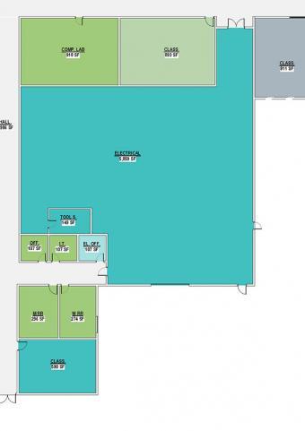 Skilled Trades Floorplan